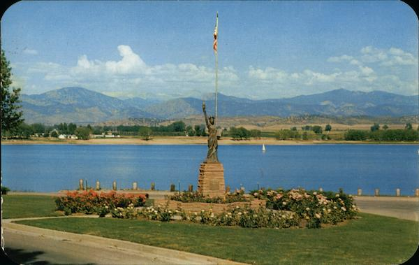 Boy Scout Monument and Lake Loveland Colorado Boy Scouts