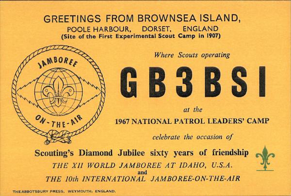 GB3BSI Greetings from Brownsea Island Poole Harbour England