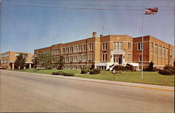 Front View of the Zion-Benton Township High School, 23rd Street and Eshcol Avenue Postcard