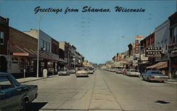 Greetings from Shawano, Wisconsin Postcard