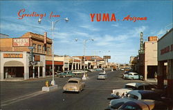 Greetings from Yuma, Arizona, Main Street