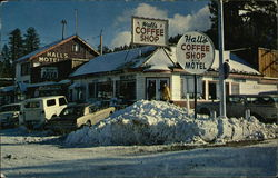 Hall's Cafe in the Heart of Big Bear Lake, California at Big Bear and Pine Knot Boulevards