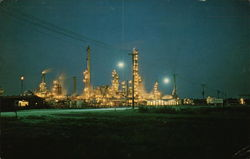 Night View Along Chemical Valley at Corunna