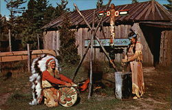Chief White Wolf and Happy Day Woman - Members of the Chippewa Tribe