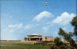 Modern Aircraft Over the Visitor Center, Wright Brothers National Memorial