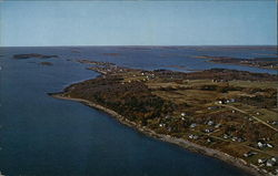 Looking Southwest, Haskells Island in Distance, Stovers Woods, center, Ash Cove, Right