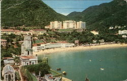 Repulse Bay Beach Hotel and Seaview Pavilion Postcard