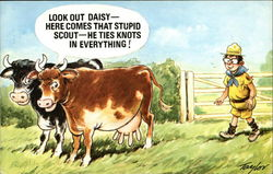 Look Out Daisy - Here Comes That Stupid Scout - He Ties Knots in Everything!