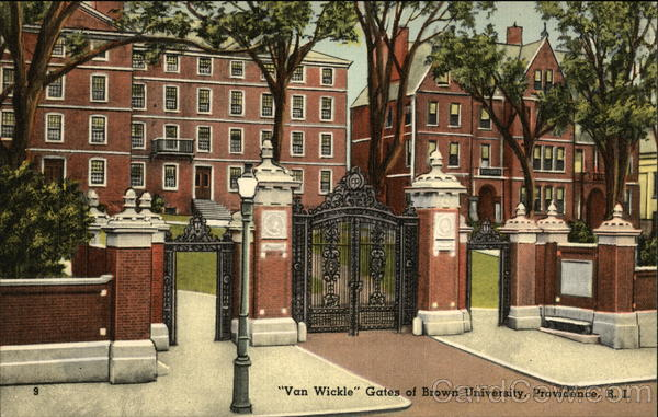 Van Wickle Gates of Brown University Providence Rhode Island