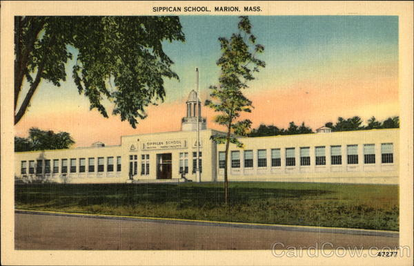 Street view of Sippican School Marion Massachusetts