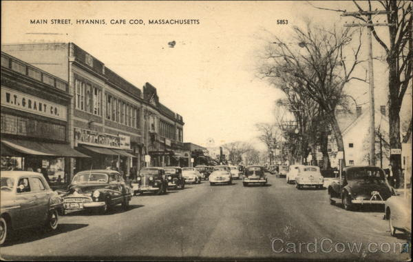 Main Street View in Cape Cod Hyannis Massachusetts