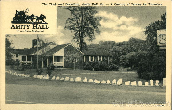The Clock and Dormitory - A Century of Service for Travelers Amity Hall Pennsylvania