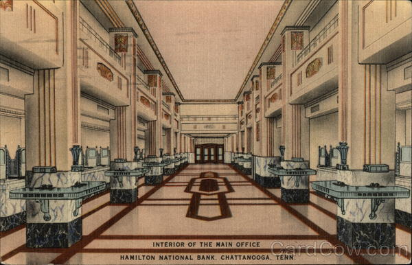 Hamilton National Bank - Interior of Main Office Chattanooga Tennessee