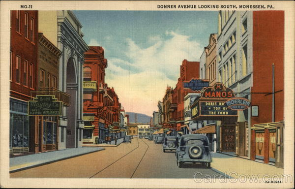 Donner Avenue Looking South - 1937 Monessen Pennsylvania