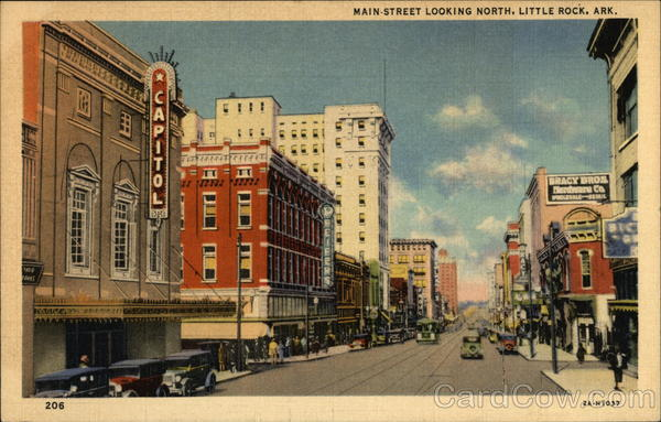Main Street, looking North Little Rock Arkansas