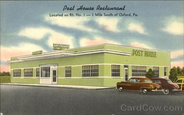 Greyhound Post House Restaurant Oxford Pennsylvania