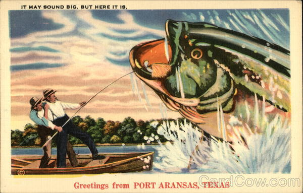 Greetings from Port Arkansas Port Aransas Texas Exaggeration
