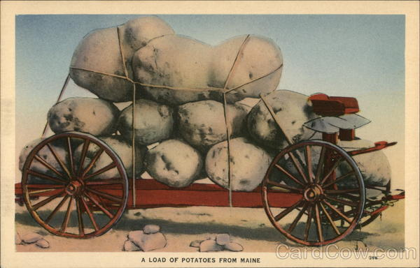 A Load of Potatoes from Maine Exaggeration