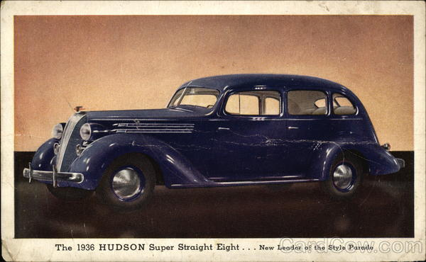 1936 Hudson Super Straight Eight Cars