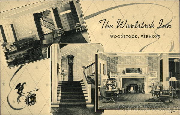 Interior Views of The Woodstock Inn Vermont