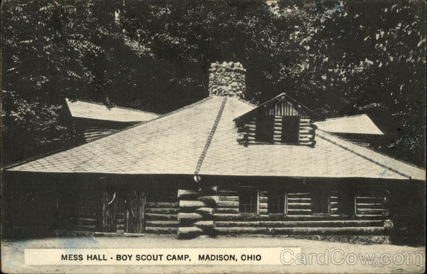 Mess Hall at Boy Scout Camp Madison Ohio