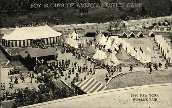 Boy Scouts of America Service Camp 1939 NY World's Fair