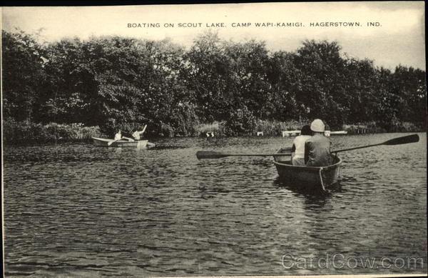 Boating on Scout Lake, Camp Wapi-Kamigi Hagerstown Indiana