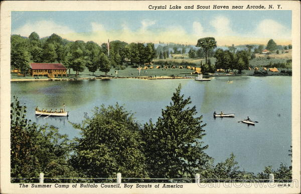 Crystal Lake and Scout Haven Arcade New York Boy Scouts