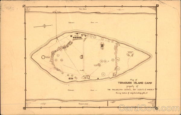 Map of Treasure Island Camp Point Pleasant Pennsylvania