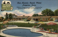Dun-Roamin Ranch Motel Postcard