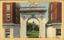 Soldiers Memorial Gate, Brown University
