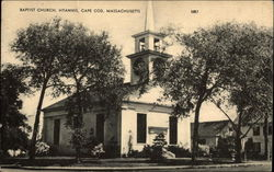 Baptist Church and Grounds in Cape Cod Postcard
