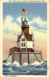 Racine Reel Lighthouse, 3 Miles from Shore