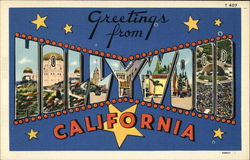 Greetings from Hollywood, California Postcard