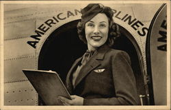 Stewardess for American Airlines