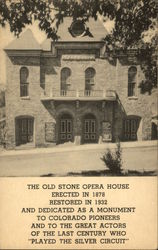 The Old Stone Opera House