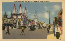 Surf Avenue and Entrance to Luna Park
