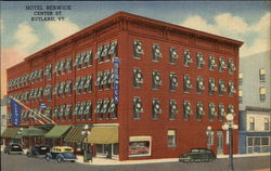 Hotel Berwick On Center Street In Rutland Postcard