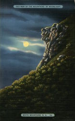 Old Man of the Mountains By Moonlight