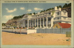 The Beach Home of Marion Davies Postcard