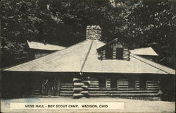 Mess Hall at Boy Scout Camp Postcard