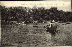 Boating on Scout Lake, Camp Wapi-Kamigi