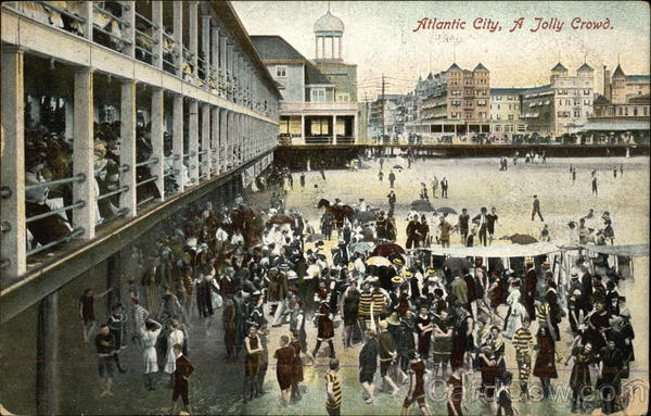 A Jolly Crowd Atlantic City New Jersey
