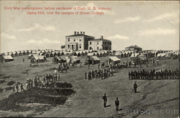 Civil War Encampment Before Residence of Supt. U.S. Armory Harpers Ferry West Virginia