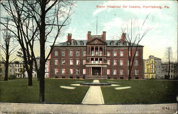 State Hospital for the Insane Harrisburg Pennsylvania