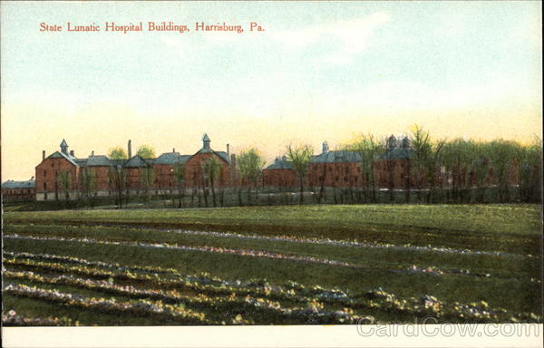 State Lunatic Hospital Buildings and Grounds Harrisburg Pennsylvania