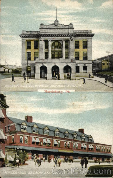 Two Harrisburg Railroad Stations Pennsylvania Depots