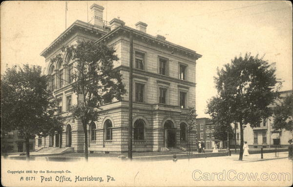Street View of Post Office Harrisburg Pennsylvania