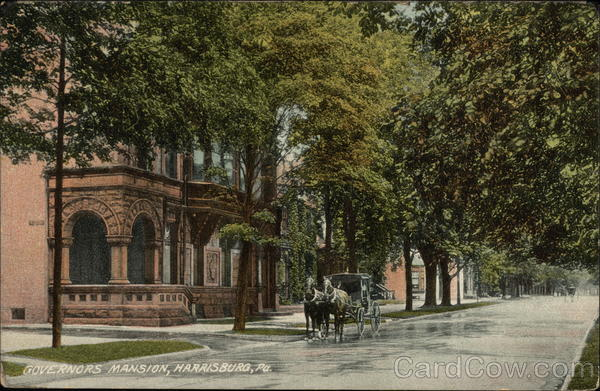 Street View of Governor's Mansion Harrisburg Pennsylvania