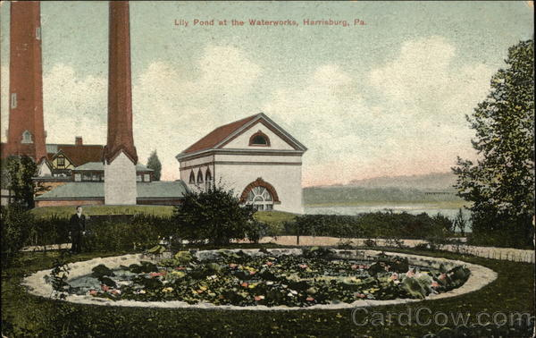 Lily Pond at the Waterworks Harrisburg Pennsylvania